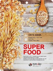 Маска тканевая питательная с экстрактом овса для лица Eyenlip Super Food Oats Mask 23ml