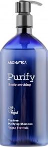 Шампунь бессульфатный освежающий для волос Aromatica Tea Tree Purifying Shampoo 400ml