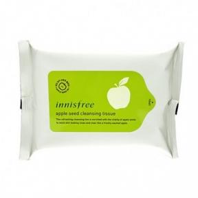 Очищающие салфетки для снятия макияжа с век и губ Innisfree Apple Seed Lip and Eye Remover Tissue 30EA