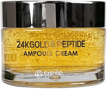 Крем ампульный антивозрастной с пептидами и золотом для лица Eyenlip 24K GOLD & PEPTIDE AMPOULE CREAM 50ml