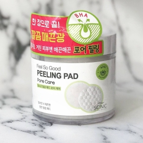 Пилинг диск с AHA кислотами для сияющей кожи Scinic Feel So Good Peeling Pad [Toning Care] 70шт