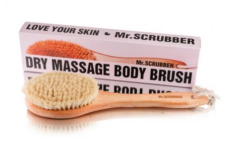 Щетка для сухого массажа с ручкой для тела Mr.Scrubber Love Your Skin