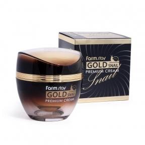Крем Омолаживающий С Золотом И Муцином Улитки FarmStay Gold Snail Premium Cream 50ml