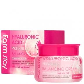 Балансирующий крем для лица с гиалуроновой кислотой FarmStay Hyaluronic Acid Premium Balancing Cream 100ml