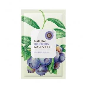 Маска Тканевая Укрепляющая С Экстрактом Черники The Saem Natural Blueberry Mask Sheet