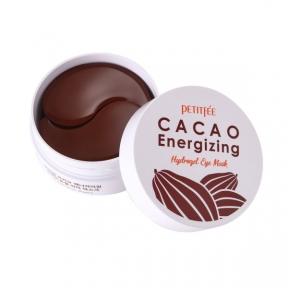 Патчи гидрогелевые тонизирующие с какао для глаз PETITFEE Cacao Energizing Hydrogel Eye Patch 60шт
