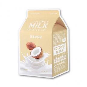 Увлажняющая Тканевая Маска С Экстрактом Кокоса И Молочными Протеинами A'pieu Milk One Pack #Coconut Milk