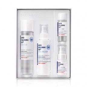 Набор: тонер, эмульсия и две миниатюры с гиалуроновой кислотой Neogen Super Hyaluronic 100™ Aqua Skin Care Set 310 ml