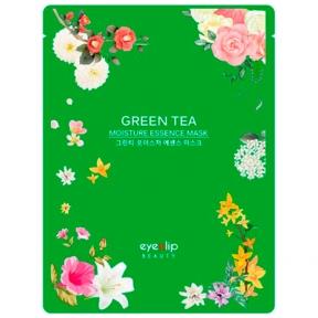 Маска тканевая увлажняющая с зеленым чаем для лица Eyenlip Green tea MOISTURE ESSENCE MASK 25ml