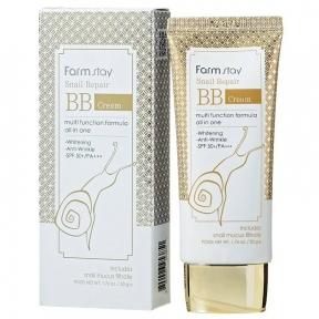 BB-крем восстанавливающий для выравнивания тона лица с улиточным муцином FarmStay Snail Repair BB Cream SPF50+ PA+++ 50g