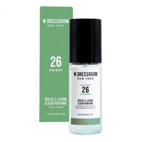 Парфюмированная вода с ароматом сосны и бергамота W.Dressroom Dress & Living Clear Perfume No.26 Herb Woody 70ml