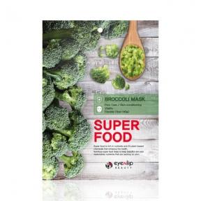 Маска тканевая питательная с экстрактом брокколи для лица Eyenlip Super Food Broccoli Mask 23ml