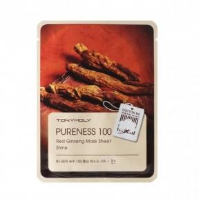 Маска Увлажняющая Омолаживающая С Экстрактом Женьшеня Tony Moly Pureness 100 Red Ginseng Mask Sheet