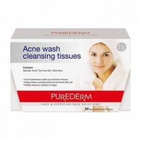 Салфетки Для Снятия Макияжа Для Чувствительной И Проблемной Кожи Purederm Make-up Remover Cleansing Tissues