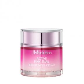 Крем осветляющий для лица JMsolution Active Pink Snail Brightening Cream Prime 60ml