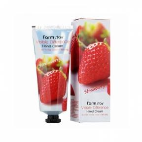 Крем для рук увлажняющий с экстрактом клубники Visible Difference Hand Cream Strawberry FarmStay 50ml