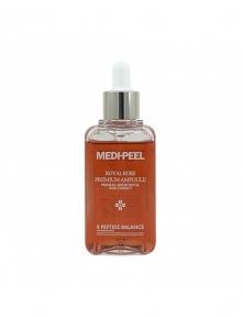 Сыворотка антивозрастная ампульная для лица с экстрактом розы и комплексом из 9 пептидов MEDI-PEEL Royal Rose Premium Ampoule, 100ml