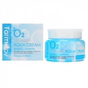 Крем кислородный увлажняющий  с ниацинамидом FarmStay O2 Premium Aqua Cream 100ml