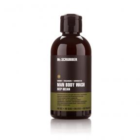 Гель для душа мужской натуральный с маслом макадамии Mr.Scrubber Man Deep Ocean Shower Gel, 250ml