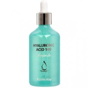 Сыворотка увлажняющая для лица высококонцентрированная с 100% гиалуроновой кислотой FarmStay Hyaluronic Acid 100 Ampoule 100ml