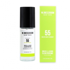 Парфюмированная вода для одежды и белья с цитрусовым ароматом W.Dressroom  Dress & Living Clear Perfume No.55 Green Grape Sherbet 70ml