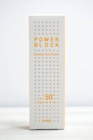 Крем-Эссенция СолнцезащитныйС Экстрактом Центеллы Азиатской A'pieu Power Block Essence Sun Cream SPF50+/ PA++++