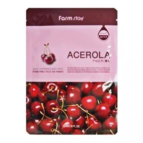 Маска увлажняющая с экстрактом ацеролы FarmStay Visible Difference Acerola Mask Sheet 23ml