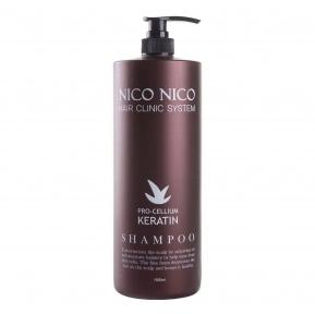 Восстанавливающий кератиновый шампунь для всех типов волос AOMI NICO NICO Keratin Shampoo 1500ml