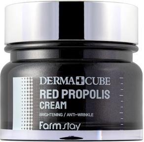 Крем питательный для лица с прополисом и гибискусом Farmstay Derma Cube Red Propolis Cream 80ml