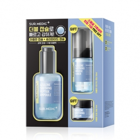 Набор: тонер-мусс, сыворотка и крем с азуленом Neogen SUR. MEDIC Azulene Soothing Peptide Ampoule Special Set 125 ml