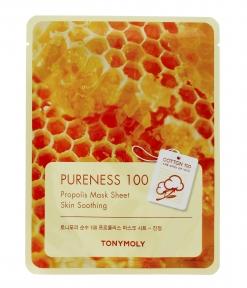 Маска Увлажняющая Питательная С Прополисом Tony Moly Pureness 100% Propolis Mask Sheet-Skin Calming 21ml