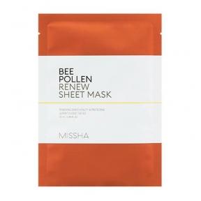 Маска тканевая Для Питания И Укрепления Кожи С Прополисом MISSHA Bee Pollen Renew Sheet Mask 25ml