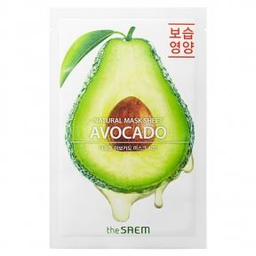 Маска увлажняющая с экстрактом авокадо The Saem Natural Avocado Mask Sheet 21ml