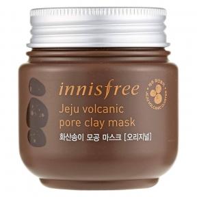 Маска Для Очищения И Сужения Пор С Вулканическим Пеплом Innisfree Jeju Volcanic Pore Clay Mask