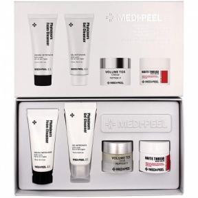 Набор омолаживающий : пена для умывания, крем для лица, очищающий гель и крем для шеи Medi Peel Premium Daily Care Kit 80ml
