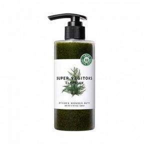 Детокс-гель для умывания увлажняющий с экстрактом хлореллы Wonder Bath Super Vegitoks Cleanser Green 200ml
