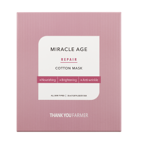 Маска тканевая восстанавливающая с экстрактом календулы Thank You Farmer Back To Iceland Miracle Age Repair Cotton Mask 25ml