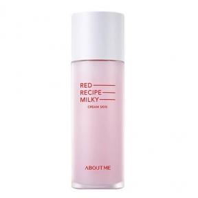 Увлажняющее очищающее молочко-тонер About me RED RECIPE CLEANSING MILKY Cream Skin