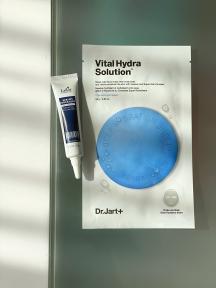 Набор: сыворотка-клей для восстановления кончиков волос La'dor Keratin Power Glue 15ml и маска тканевая увлажняющая для лица Dr.Jart+ Dermask Water Jet Vital Hydra Solution 25g