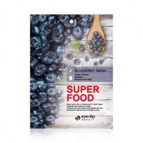 Маска тканевая питательная с экстрактом черники для лица Eyenlip Super Food Blueberry Mask 23ml