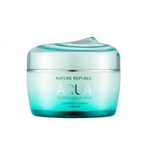 Крем Увлажняющий Для Комбинированной И Жирной Кожи Nature Republic Super Aqua Max Combination Watery Cream 80ml