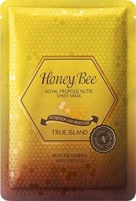 Маска тканевая с экстрактом маточного молочка True Island Honey Bee Royal Propolis Nutri Sheet Mask 27ml
