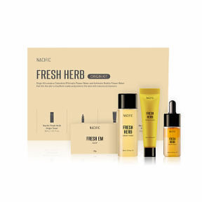 Набор миниатюр для лица Nacific Fresh Herb Origin Kit 4 in 1 (Тонер Fresh Herb Origin Toner 30ml + Сыворотка Fresh Herb Origin Serum 10ml + Крем Fresh Herb Origin Cream 20ml + Мыло Fresh EM Soap 30g), 90ml