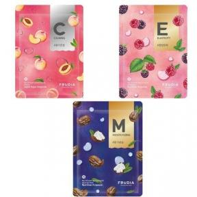 Набор из трех тканевых масок с фруктовыми экстрактами Frudia My Orchard Squeeze Mask  60ml