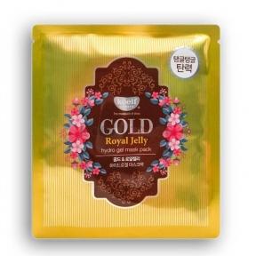 Гидрогелевая Маска С Маточным Молочком И Коллоидным Золотом Petitfee KOELF Gold & Royal Jelly Mask 5шт