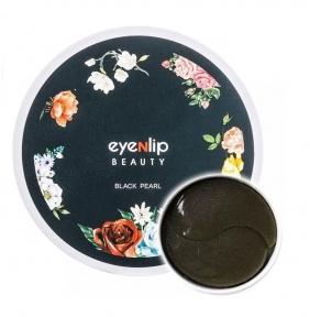 Патчи гидрогелевые антивозрастные с черным жемчугом для глаз Eyenlip BLACK PEARL HYDROGEL EYE PATCH 60шт