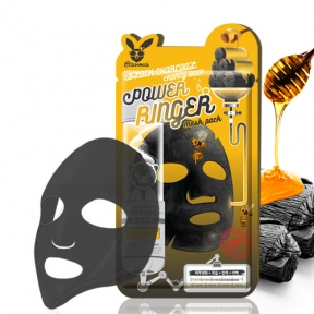 Очищающая питательная маска с древесным углем и медом Elizavecca Black Charcoal Honey Deep Power Ringer Mask Pack 23ml