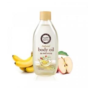 Масло для тела увлажняющее с экстрактом персиковых косточек Happy Bath Natural Body Oil Real Moisture  250ml