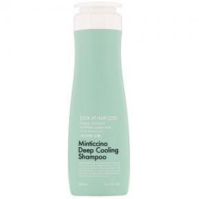 Шампунь освежающий с экстрактом зеленого чая для жирной кожи головы Daeng Gi Meo Ri Look At Hair Loss Minticcino Deep Cooling Shampoo 500ml