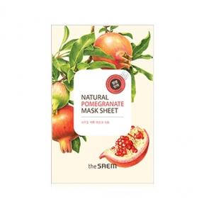 Маска тканевая увлажняющая с экстрактом граната The Saem Natural Pomegranate Mask Sheet 20ml
